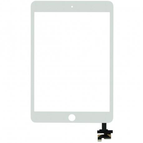 Apple iPad mini 3 A1599 Dotykové sklo pro tablet - bílá bílá + zprostředkování servisu v ČR