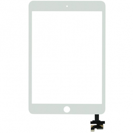 Apple iPad Mini 3 A1600 Dotykové sklo pro tablet - bílá bílá + zprostředkování servisu v ČR