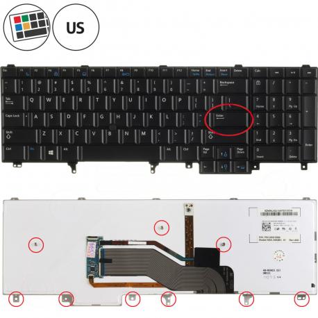 Dell Latitude E6530 Klávesnice pro notebook - americká - US + zprostředkování servisu v ČR
