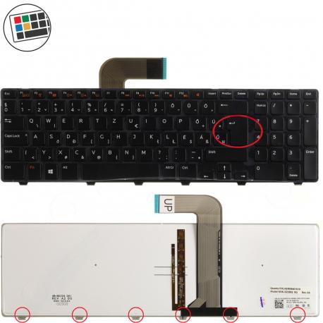 Dell Inspiron 15R Klávesnice pro notebook - německá - DE + zprostředkování servisu v ČR