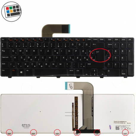 Dell XPS L702X Klávesnice pro notebook - německá - DE + zprostředkování servisu v ČR