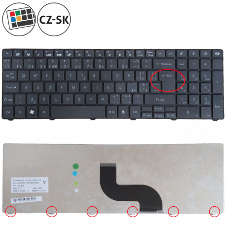 Packard Bell EasyNote TM05 Klávesnice pro notebook - CZ / SK + zprostředkování servisu v ČR