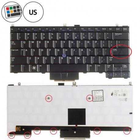 Dell Latitude E4310 Klávesnice pro notebook - americká - US + doprava zdarma + zprostředkování servisu v ČR