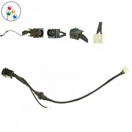 Sony Vaio VGN-FW51JF Napájecí konektor - dc jack pro notebook - délka 6 cm 2 piny s připojovacím kabelem + zprostředkování servisu v ČR