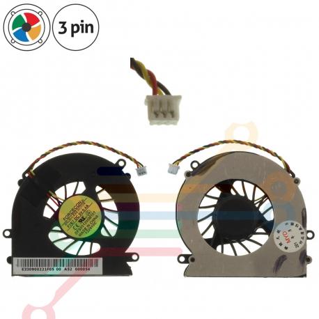 E33-0900212-F05 Ventilátor pro notebook - 3 piny kovový kryt vrtule ( na 4 šroubkách ) 3 díry na šroubky + zprostředkování servisu v ČR