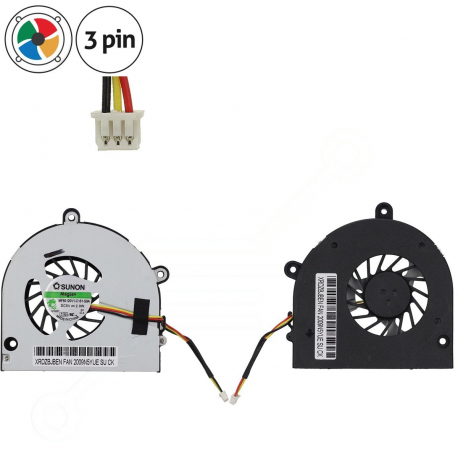 AT0C6004AV0 Ventilátor pro notebook - 3 piny plastový kryt vrtule ( na 2 šroubkách ) 3 díry na šroubky 9 cm + zprostředkování servisu v ČR