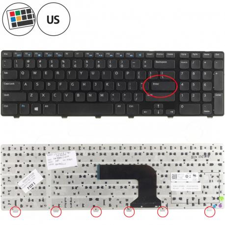 Dell Inspiron 17R 5721 Klávesnice pro notebook - americká - US + zprostředkování servisu v ČR