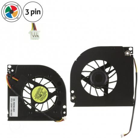 Dell Inspiron 6400 PP20L Ventilátor pro notebook - 3 piny plast 2 díry na šroubky + zprostředkování servisu v ČR