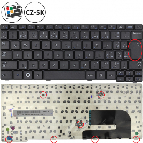 Samsung NP-N150 Klávesnice pro notebook - CZ / SK + doprava zdarma + zprostředkování servisu v ČR
