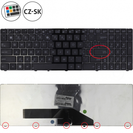 Asus K70AD Klávesnice pro notebook - CZ / SK + zprostředkování servisu v ČR