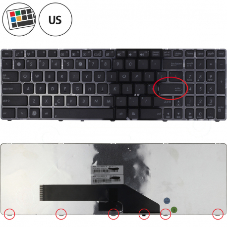 Asus K70AD Klávesnice pro notebook - americká - US + zprostředkování servisu v ČR