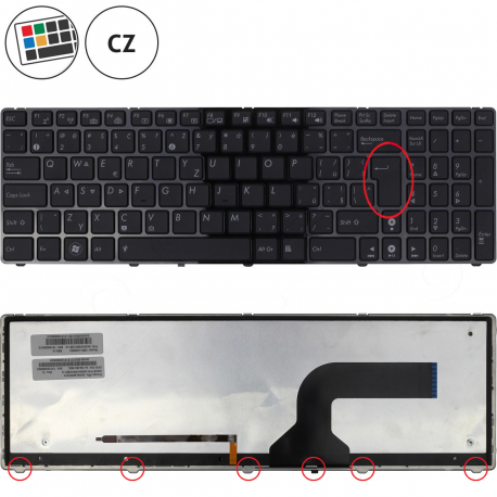 Asus N53JN Klávesnice pro notebook - CZ + doprava zdarma + zprostředkování servisu v ČR