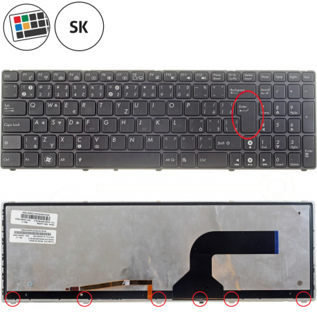 Asus X54 Klávesnice pro notebook - SK + doprava zdarma + zprostředkování servisu v ČR
