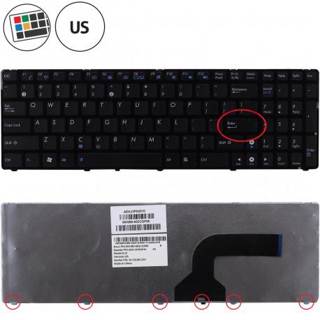 Asus K52D Klávesnice pro notebook - americká - US + zprostředkování servisu v ČR