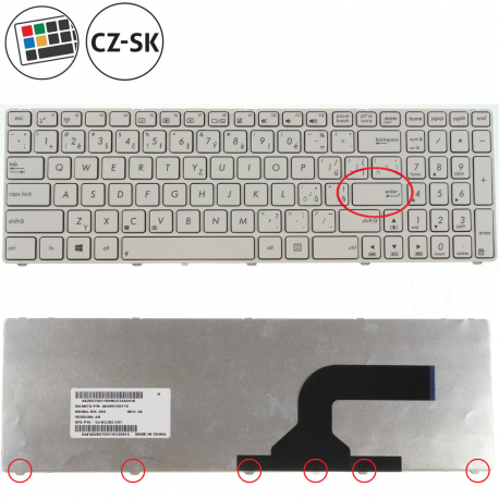 Asus A52JV Klávesnice pro notebook - CZ / SK + doprava zdarma + zprostředkování servisu v ČR