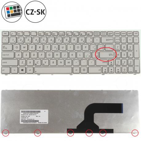 Asus K72DR Klávesnice pro notebook - CZ / SK + doprava zdarma + zprostředkování servisu v ČR