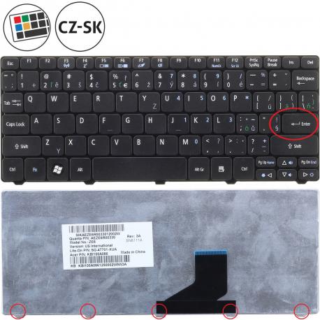 Acer Aspire One D257 Klávesnice pro notebook - CZ / SK + zprostředkování servisu v ČR