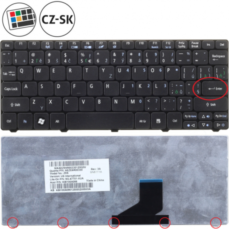 Packard Bell dot s Klávesnice pro notebook - CZ / SK + zprostředkování servisu v ČR