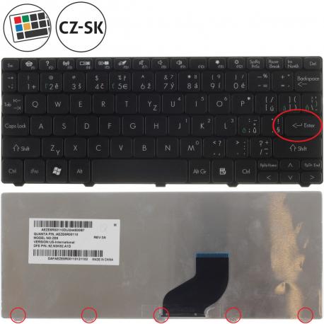 Acer Aspire One D255-2bqkk Klávesnice pro notebook - CZ / SK + zprostředkování servisu v ČR