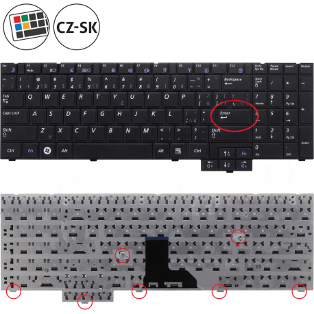 Samsung NP-E452 Klávesnice pro notebook - CZ / SK + zprostředkování servisu v ČR