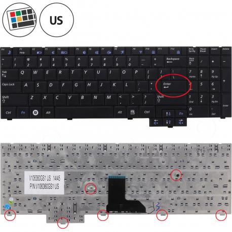Samsung NP-P580 Klávesnice pro notebook - americká - US + zprostředkování servisu v ČR