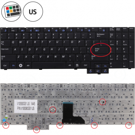 Samsung NP-RV508 Klávesnice pro notebook - americká - US + zprostředkování servisu v ČR