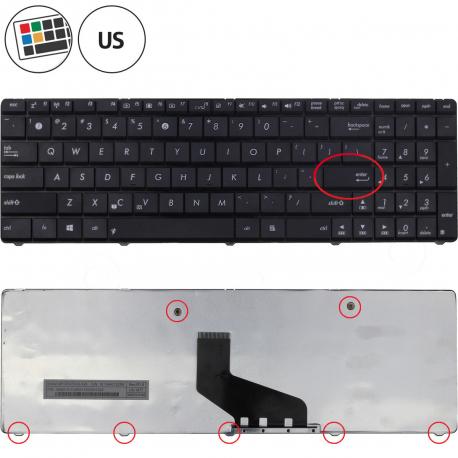 Asus A53BY Klávesnice pro notebook - americká - US + zprostředkování servisu v ČR