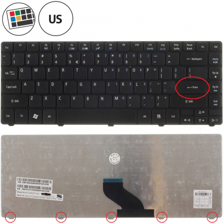 Acer Aspire 5942G Klávesnice pro notebook - americká - US + zprostředkování servisu v ČR