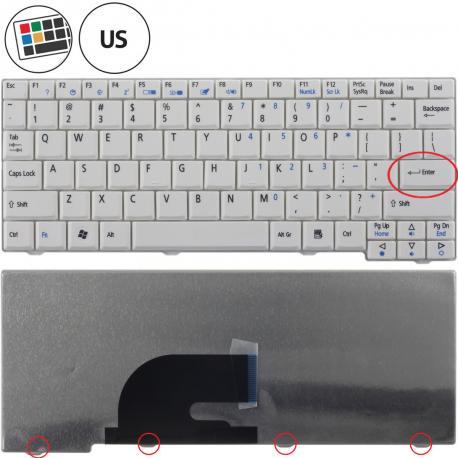 Acer Aspire One D250 KAV60 Klávesnice pro notebook - americká - US + zprostředkování servisu v ČR