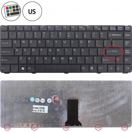 Sony Vaio VGN-NS31MW Klávesnice pro notebook - americká - US + zprostředkování servisu v ČR