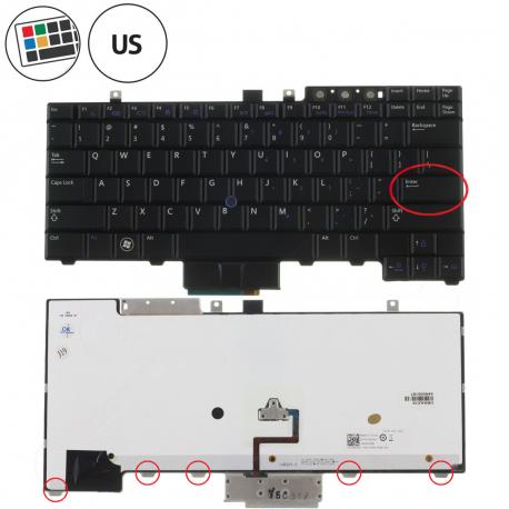 Dell Latitude E5410 Klávesnice pro notebook - americká - US + doprava zdarma + zprostředkování servisu v ČR