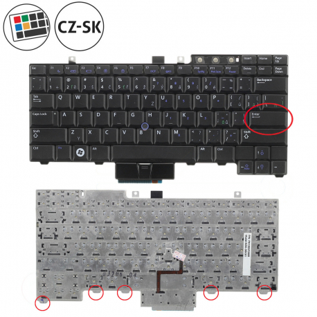 Dell Latitude E5500 Klávesnice pro notebook - CZ / SK + doprava zdarma + zprostředkování servisu v ČR