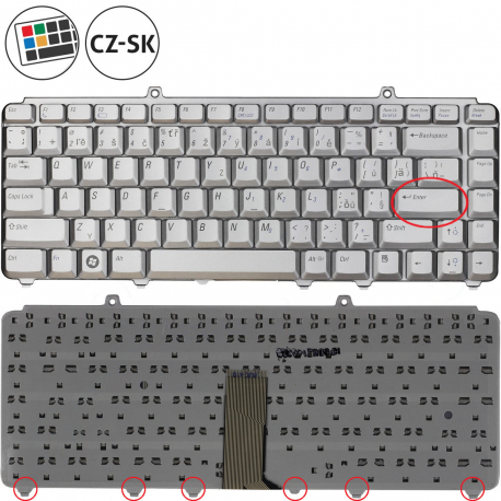 Dell Inspiron 1545 Klávesnice pro notebook - CZ / SK + zprostředkování servisu v ČR