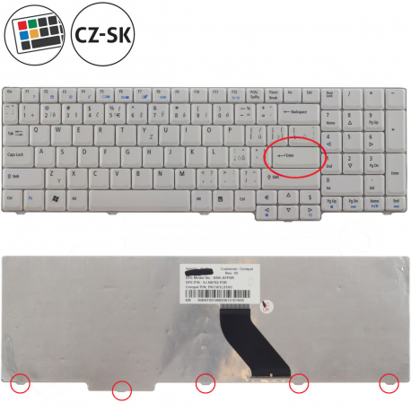 Acer Extensa 5635ZG Klávesnice pro notebook - CZ / SK + zprostředkování servisu v ČR