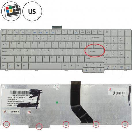 Acer Extensa 7630Z Klávesnice pro notebook - americká - US + zprostředkování servisu v ČR