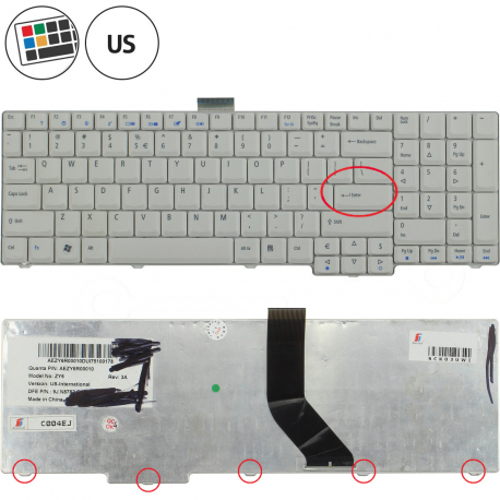 Acer Aspire 7720G Klávesnice pro notebook - americká - US + zprostředkování servisu v ČR