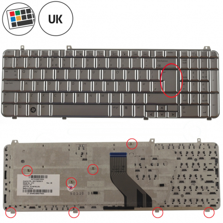 HP Pavilion dv6-1435ec Klávesnice pro notebook - anglická - UK + zprostředkování servisu v ČR