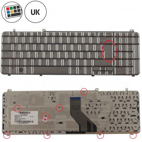 HP Pavilion dv7-2100eg Klávesnice pro notebook - anglická - UK + zprostředkování servisu v ČR