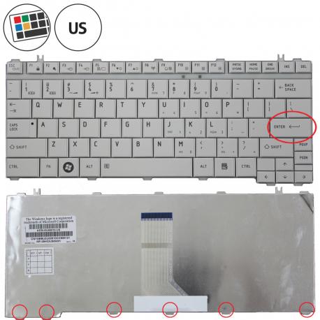 Toshiba Satellite Pro U500 Klávesnice pro notebook - americká - US + zprostředkování servisu v ČR