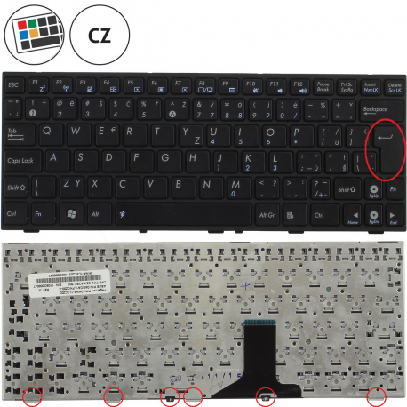Asus Eee PC 1008P Klávesnice pro notebook - CZ + zprostředkování servisu v ČR