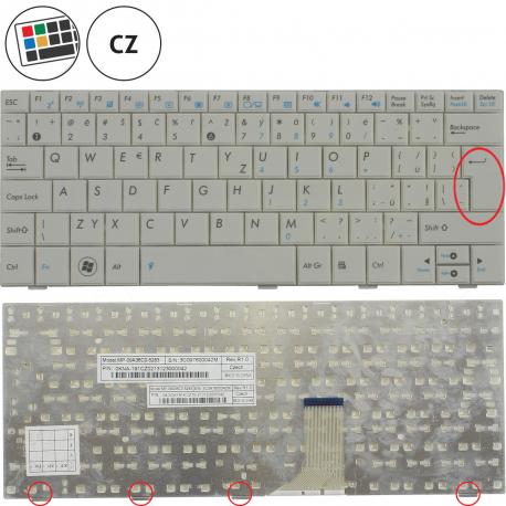 Asus Eee PC 1008HA Klávesnice pro notebook - CZ + zprostředkování servisu v ČR