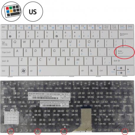 Asus Eee PC 1008P Klávesnice pro notebook - americká - US + zprostředkování servisu v ČR