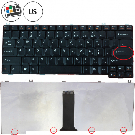 Lenovo G455 Klávesnice pro notebook - americká - US + zprostředkování servisu v ČR