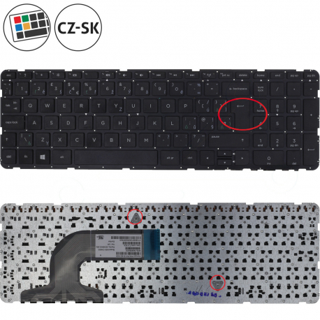 HP Pavilion 15-r004sc Klávesnice pro notebook - CZ / SK + zprostředkování servisu v ČR