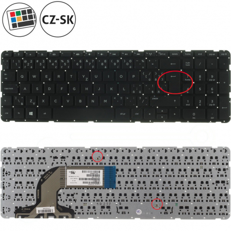 HP Pavilion 15-d050sc Klávesnice pro notebook - CZ / SK + zprostředkování servisu v ČR