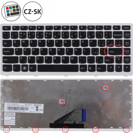 9Z.N7GSQ.301 Klávesnice pro notebook - CZ / SK + zprostředkování servisu v ČR