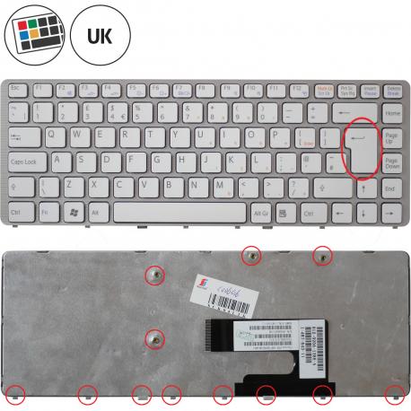 Sony Vaio VGN-NW120J Klávesnice pro notebook - anglická - UK + zprostředkování servisu v ČR