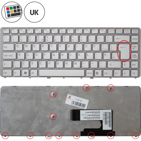 Sony Vaio VGN-NW135JT Klávesnice pro notebook - anglická - UK + zprostředkování servisu v ČR