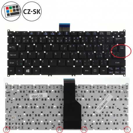 Acer Aspire One 756 Klávesnice pro notebook - CZ + zprostředkování servisu v ČR