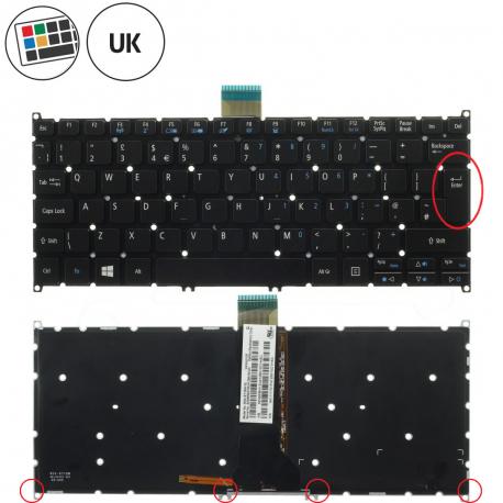 Acer Aspire V5-122P Klávesnice pro notebook - anglická - UK + doprava zdarma + zprostředkování servisu v ČR
